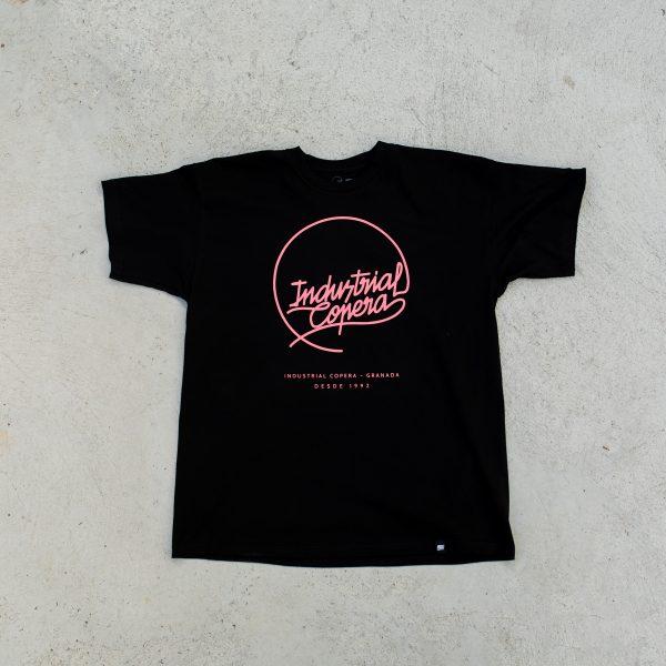 Camiseta Industrial Copera Logo Rosa