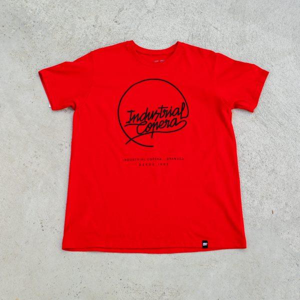 Industrial Copera Camiseta Roja Logo Negro