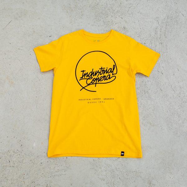 Camiseta Industrial Copera Amarilla logo