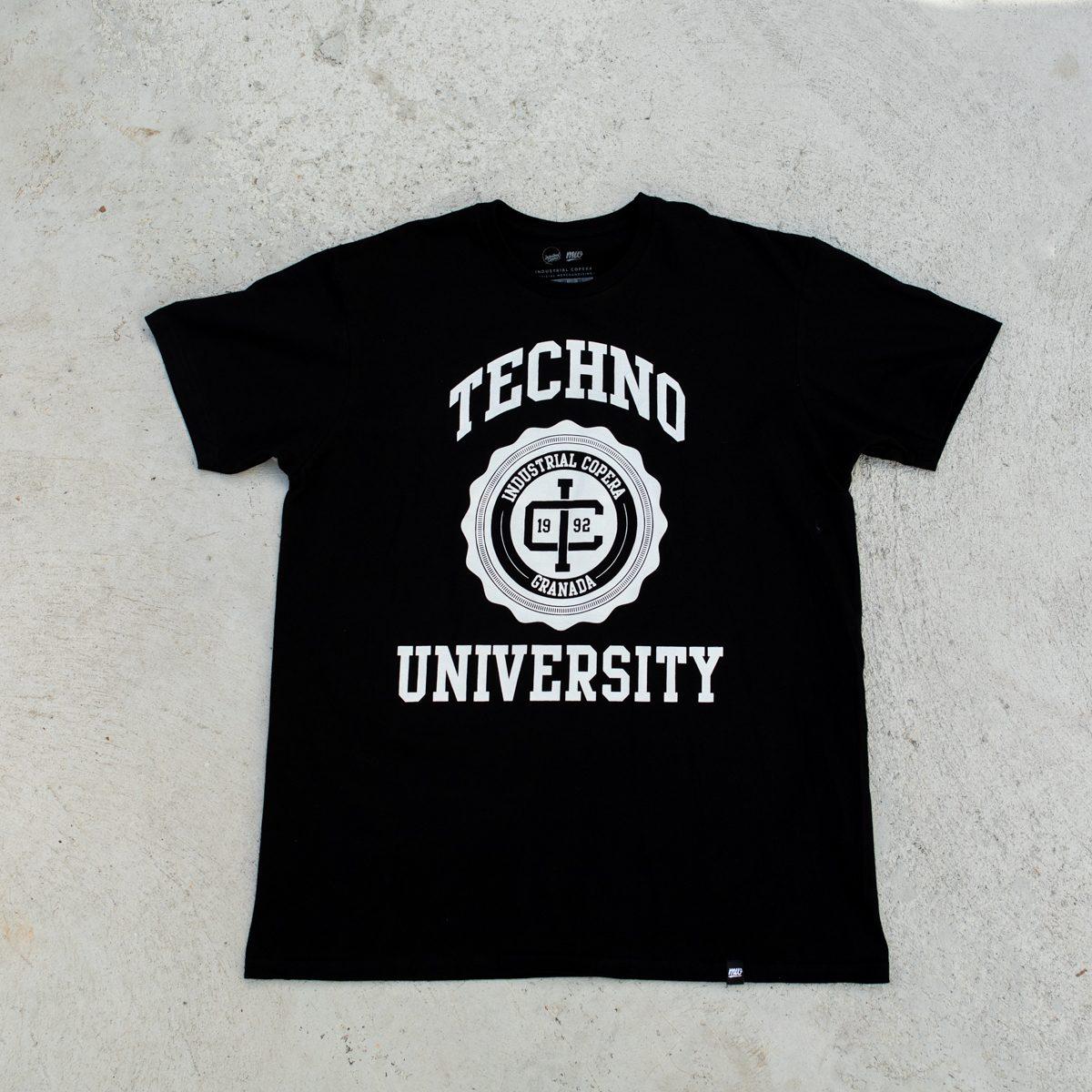 Camiseta negra Industrial Copera Techno University